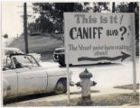 Caniff Blvd. Sign, Columbia Missourian Photographs, P0102